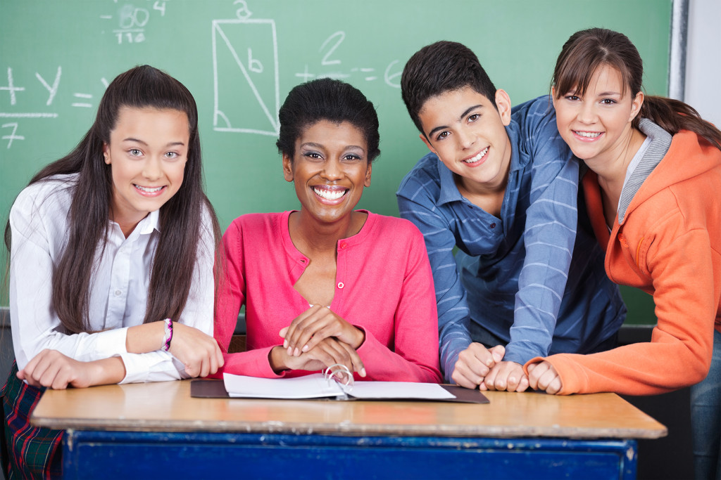 students-teacher-chalkboard